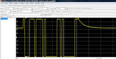 Typical ProfiCaptain scanning message waveform